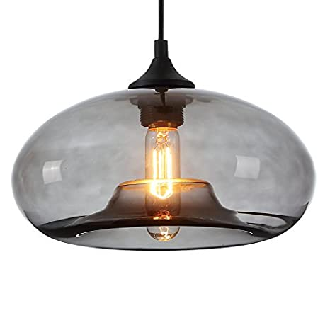 Vintage Pendant Ceiling Hanging Light Glass Shade Clear