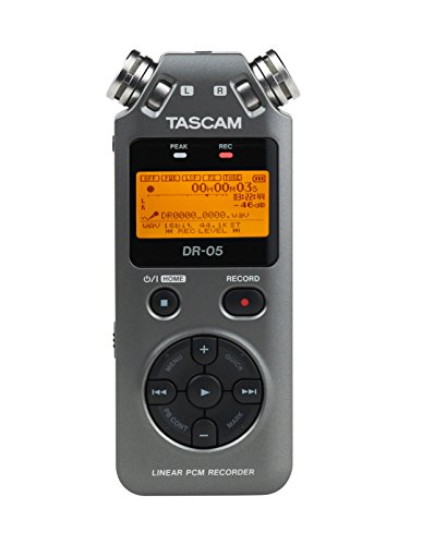 Tascam DR-05 Portable Digital Recorder (Version 2) Luminous Gray Special