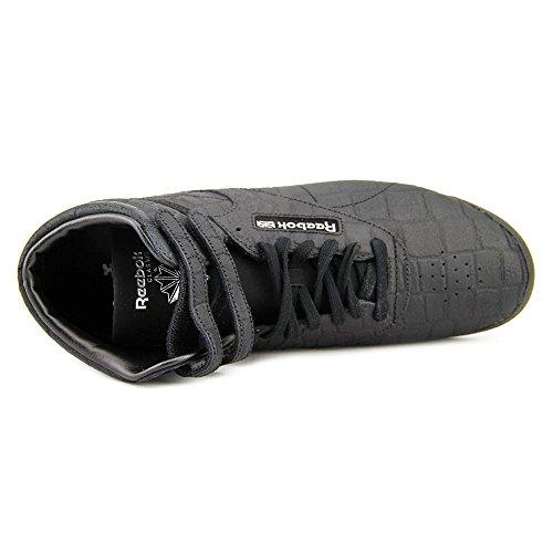 Sneaker Fashion Reebok Freestyle Hi Exotics - Nero - Donna - 7.5