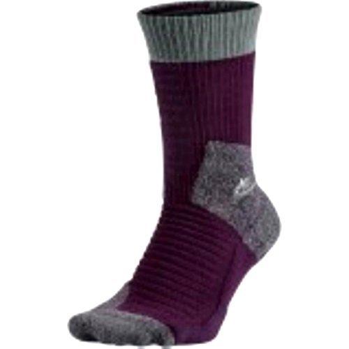 NIKE SB Skateboard Elite 2.0 Athletic Sport Crew Sock (Grape Purple/Grey Steel)LG