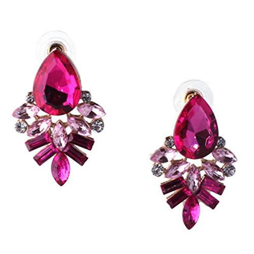 Earrings Rhinestone Sweet Metal with Gems Ear Stud Earrings for Women Crystal Earring Wholesa for $<!--$15.88-->