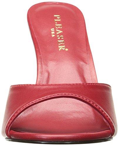 Pleaser Ladies Classique-01 Sandali Aperti Pu Rosso