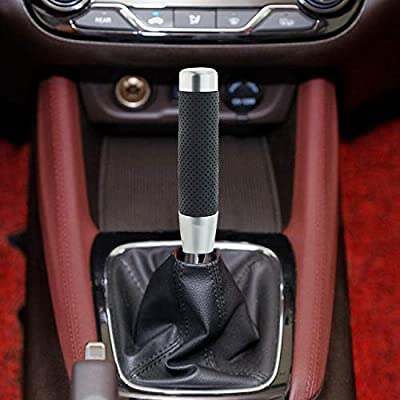 Black Arenbel 7.08 Inch Long Gear Shifter Knob Leather Car Stick Shifting Shift Lever Handle fit Most Universal Automatic Manual Vehicle