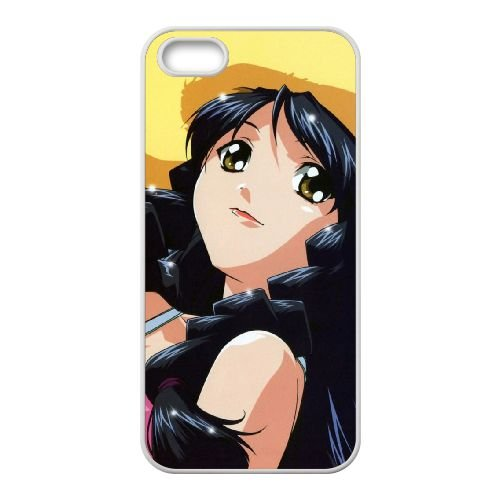 V2S73 Anime girl G6U4KE coque iPhone 5 5s cellulaire cas de téléphone couvercle coque blanche FS3RRZ2VC