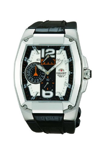(Orient Men's CEZAE001S 23 Jewels Automatic with Power Reserve Indicator Date and Small Second Hand White Watch)