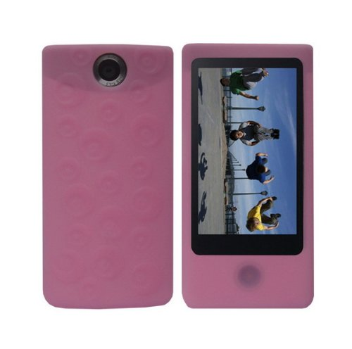 pink-soft-silicone-skin-case-fishbone-style-keychain-for-sony-bloggie-touch-mhs-ts20-mhs-ts10-4gb-8g