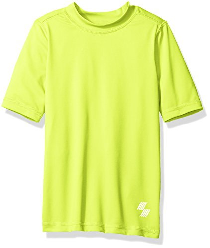 The Children's Place Little Boys' Short Sleeve Rashguard Swim Shirt, Tweak Yellow, S (5/6)
