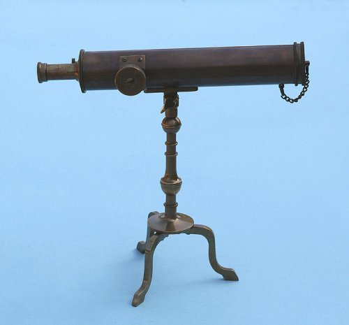 10-inch Antique Patina Brass Victorian Desk Telescope by Stanley London