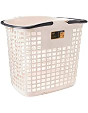 Citylife L-1006 66L Laundry Basket with Handle, 475x335x415mm, Ice Grey