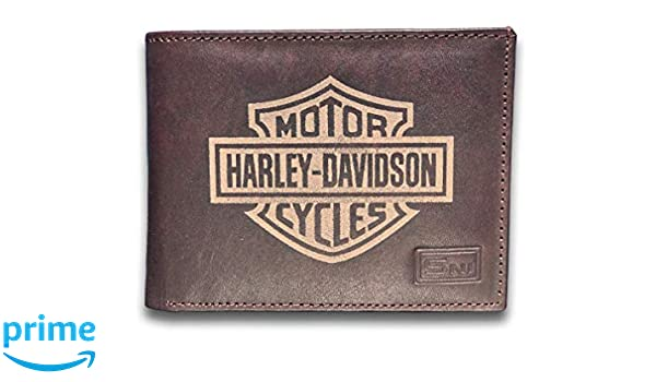 Harley-Davidson Men/'s Embossed B/&S Logo Leather Billfold Wallet XML3554-BLACK