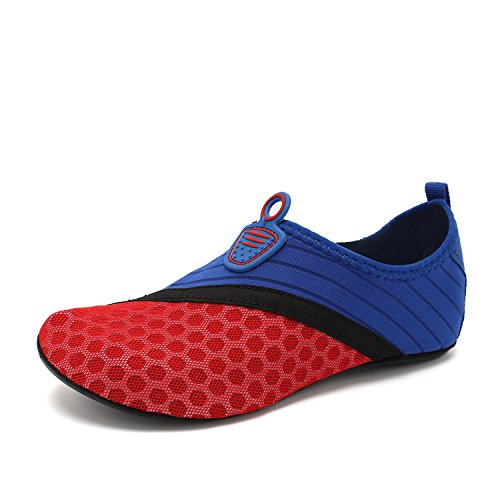 Shoes and On Yoga Barefoot Beach Exercise Blue Water Quick Dry Red Men Sports Women Slip Aqua Socks and for Swim 75zzqwURx