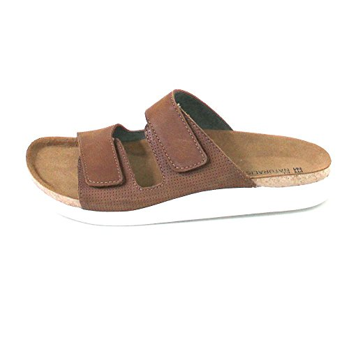 KOI Woman Leather Pleasant Velcro N5090 Wood 44 Sandals wSxaEEn7qU