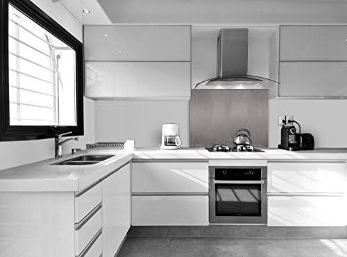 Vidriopanel Panel DE Vidrio Color Metalizado para Cocina en Diferentes Medidas/Cristal de Protección Salpicaduras para frentes de cocinas (70x50 cm, Gris Oscuro Metalizado): Amazon.es: Hogar