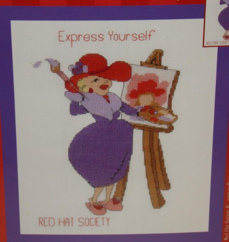 Pea Red Sweet Designs (Red Hat Society Express Yourself Counted Cross Stitch)
