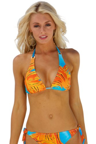 f80488e9381f6 Blue Sky Swimwear Women s Psychedelic Elongated Triangle Top (Top Only Size  M)