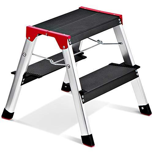 Delxo Lightweight Aluminum 2 Step Ladder Step Stool