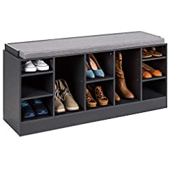 Entryway Best Choice Products 46in Multifunctional Space Saving Organization Storage Shoe Rack Bench for Entryway, Bedroom…