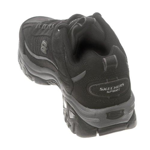 Skechers Sport Heren Energie Downforce Lace-up Sneaker Zwart Leder