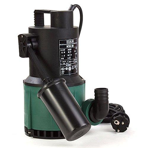 DAB- Nova 300 M-A SV 103002724 - Pompe submersible avec flotteur pour drainage d'eaux claires à usage domestique 0, 22kW/0, 3HP - Monophasée avec arbre - Pompe en acier inoxydable spécial 22kW/0 NOVA 300 - Hp 0