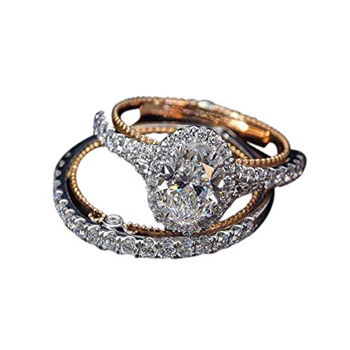 - Desirepath Wedding Bands Sets for Him and Her, Elegant Diamond Ring Romantic