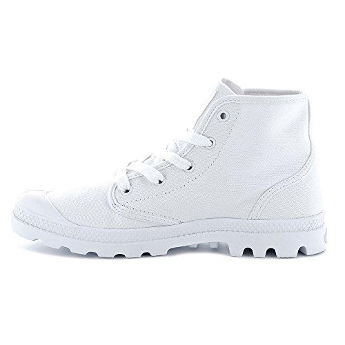 924 White White Collo Uomo Palladium Alto a White Pampa Sneaker Hi wAxx1Pv8q