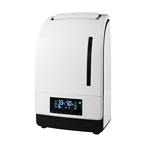 Digital Micro-Tech 4500 Ultrasonic Cool & Warm Mist Humidifier-High Frequency Vibrations 1.7 MHz -Carbon Activated Air Filter + Ionizer + Aroma Essential Oil Diffuser (White) (Hot Cool Humidifier compare prices)