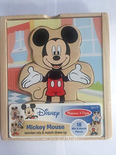Melissa & Doug Disney Mickey Mouse Mix and Match Dress-Up Wooden Play Set (18 pcs)]()