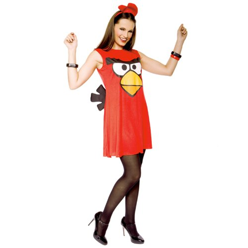 Sassy Angry Bird Adult Costume Red - Small (Cartoon Character Costume Ideas Adults)