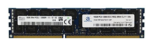 (Adamanta 16GB (1x16GB) Server Memory Upgrade for Dell Poweredge & Precision Servers Hynix Original DDR3L 1600Mhz PC3L-12800 ECC Registered 2Rx4 CL11 1.35v DRAM RAM)