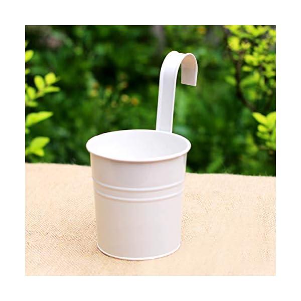 Depory metallo ferro solido colore vaso di fiori vaso da appendere per balcone o piante da giardino con gancio… 2 spesavip