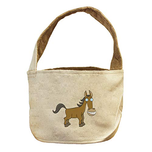 Style in Print Horse with Big Teethes Animals Canvas and Burlap Storage Basket by Style in Print