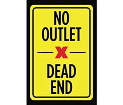 Amazon No Outlet Dead End Print Yellow Black Red Picture