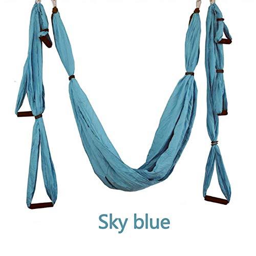 ZENWEN Indoor Reverse Luft Yoga HäNgematte Yoga Schaukel Fitness HäNgematte Outdoor Fallschirmtuch (5 Farben)