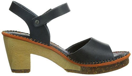 Ankle Open Amsterdam Art Toe Women's Black Strap Black Sandals 7qAwvZtw