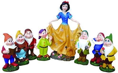 ITEM Biancaneve - Estatua de jardín con diseño de enanitos para decoración de jardín, 7 enanitos: Amazon.es: Jardín