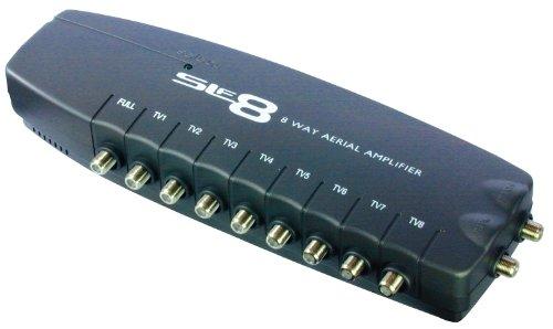 SLx 8-Way F Connectors Aerial Amplifier