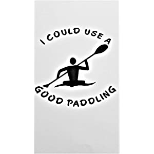 I Could Use A Good Paddling Canoe Kayak Vinyl Decal Sticker|BLACK|Cars Trucks Vans SUV Laptops Wall Art|5″ X 5″|CGS471