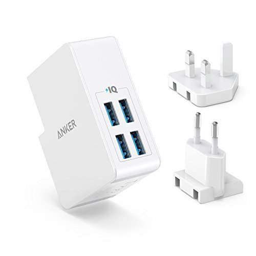USB Charger Anker 27W 4-Port USB Wall Charger PowerPort 4 Lite with...