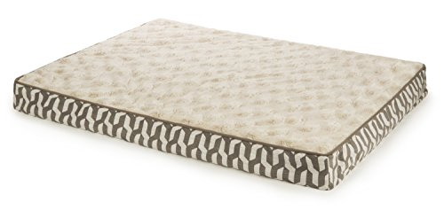 - Sterling Deluxe Orthopedic Pet Bed Mattress, Large and Plush with Stepped Chevron in Brown