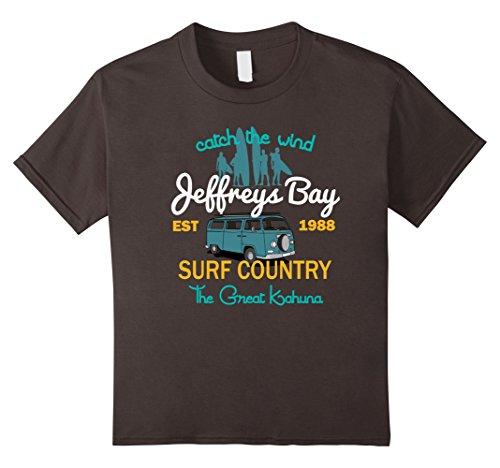 Kids Catch The Wind Jeffreys Bay Sudafrica Surfing T-shirt 4 Asphalt
