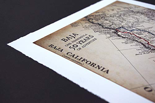 Baja 1000 50th Anniversary Commemorative Map - Limited Edition Archival Paper Print ()