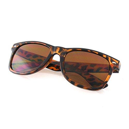 Premium Horn Rimmed Wayfarer Style Sunglasses (Tortoise, - Latest Sunglasses Style