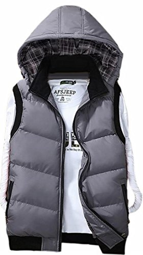 today-UK Mens Stylish Thicken Hooded Down Vest Winter Jacket Outwear 3