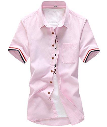 [スゴフィ]SGFY  メンズ ポロシャツ ストライプの袖 無地 カジュアル シャツ ゴルフ ウェア