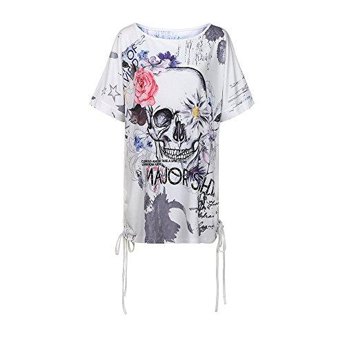 Froid Dames L'épaule Blouse Jeu Courtes shirt T Vemow Tops D'été Gris De Manches Femmes Vente Vêtements Pour Femmes Chemises Strappy WIPqW6f