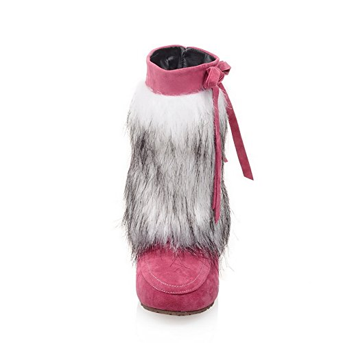 Inne Ornament Bowknot Frostet Gull Kvinners Støvler Pels Spunnet 1to9 Rosa Høyne qw0TxCXa
