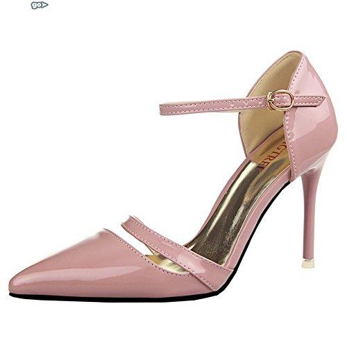 Adee Ladies ankle-cuff hebilla sandalias de material suave Rosa - rosa