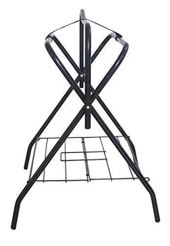 Horse Saddle Rack Stand Folding Storage Metal Black Saddle Tack Stable by AJ Tack Wholesale (Image #1)