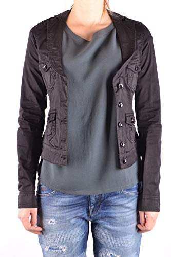 Veste Femme Mcbi33076 Liu Noir Coton Jeans vTq8O