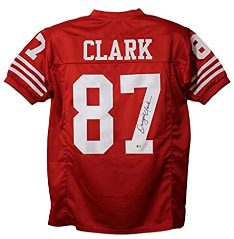 new arrival 5f3f7 2fe75 Dwight Clark Autographed/Signed San Francisco 49ers XL Red ...